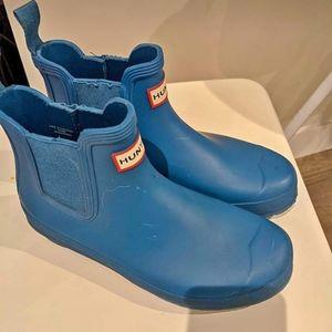 Hunter blue Chelsea rain boots